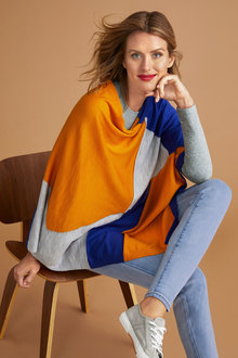 Capture Merino Colour Block Cape