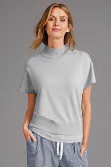 Capture Merino Funnel Neck Top - 240901