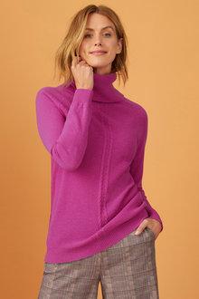 Capture Lambswool Cowl Neck Sweater - 240902