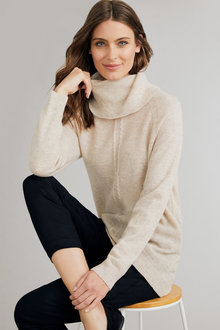 Capture Lambswool Cowl Neck Sweater - 240902