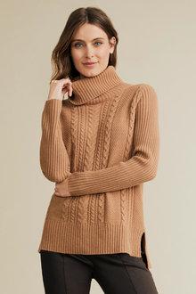 Capture Lambswool Cowl Neck Sweater - 240904