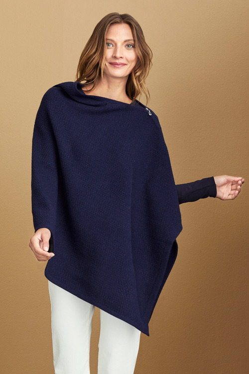Capture Lambswool Zip Detail Cape