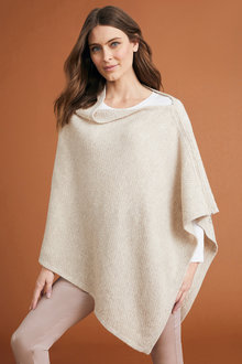 Capture Lambswool Zip Detail Cape - 240905