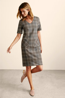 Capture Ponte V Neck Pocket Dress - 240907