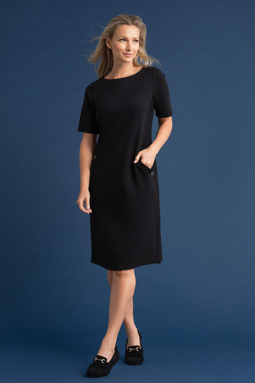 Capture Ponte Button Pocket Dress