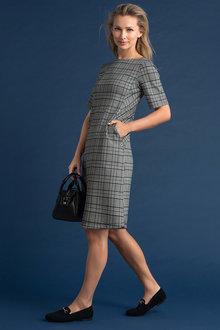 Capture Ponte Button Pocket Dress - 240908
