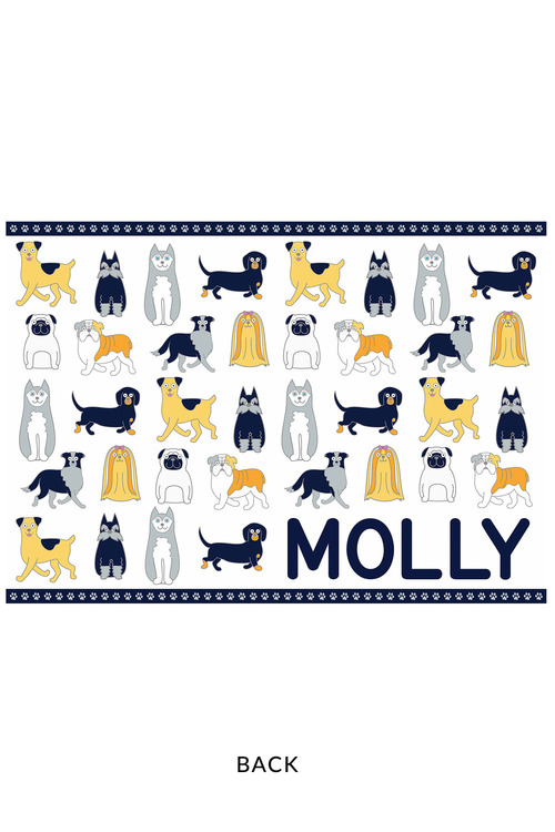 Personalised Pet Placemat Black and White