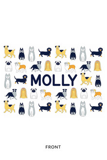 Personalised Pet Placemat Black and White - 240925