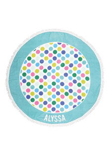 Personalised Round Beach Towel - 240934