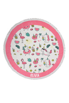 Personalised Round Beach Towel