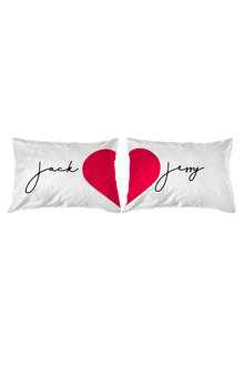 Personalised Joining Hearts Pillowcase Set