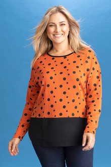 Plus Size - Sara Merino Pattern Sweater - 240942