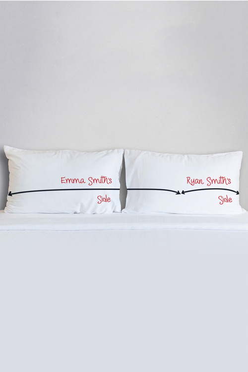 Personalised My Side, Your Side Pillowcase Set
