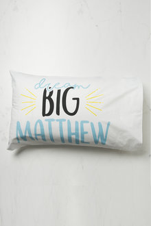 Personalised Dream Big Pillowcase