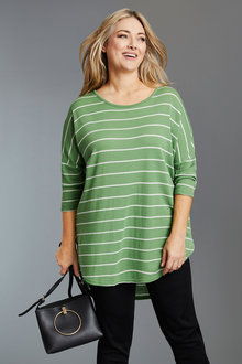 Plus Size - Sara Merino Hi Low Sweater