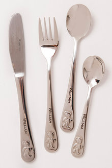 Personalised Teddys Table Engraved Cutlery Set