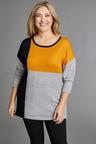 Plus Size - Sara Merino Colourblock Sweater
