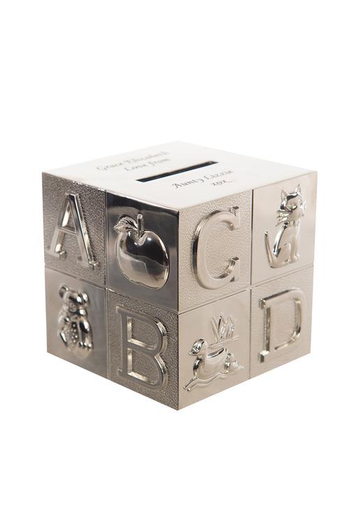 Personalised ABC Cube Money Box