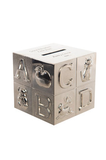Personalised ABC Cube Money Box - 240957