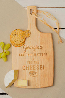 Personalised Age Only Matters Cheese Board - 240959