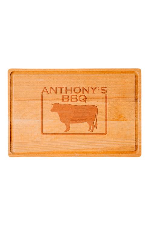 Personalised Bull Chopping Board