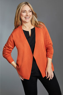 Plus Size - Sara Merino Short Cardi - 240967