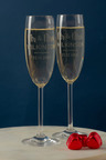 Personalised Mr & Mrs Champagne Flutes Set of Six