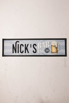 Personalised Mancave Bar Mat