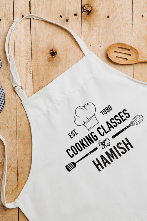 Personalised Cooking Class Apron