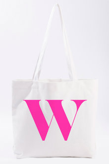 Personalised Natural Canvas Initial Tote - 241005