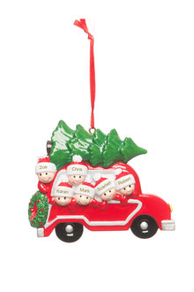 Personalised Family Car Ornament