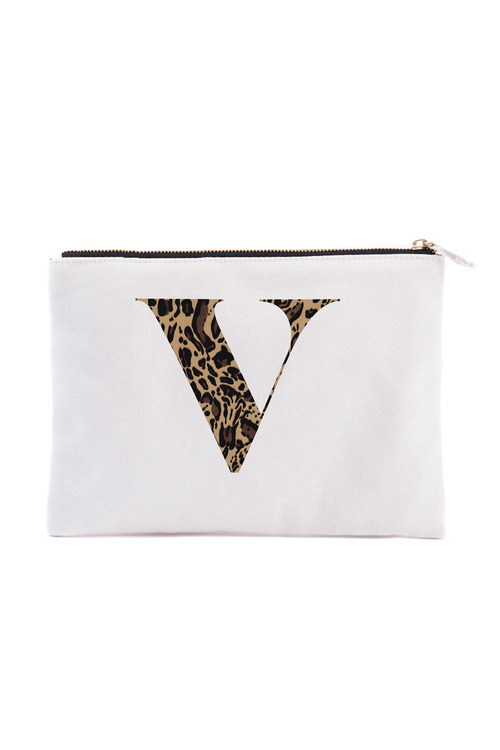 Personalised Initial Natural Pouch