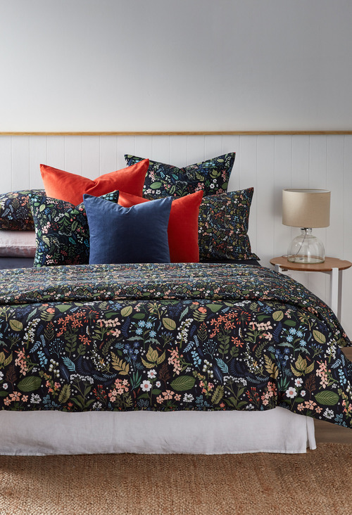 Midnight Garden European Pillowcase Pair
