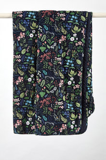 Midnight Garden Quilted Velvet Throw