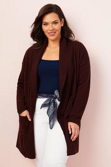 Plus Size - Sara Lambswool Longline Cardi