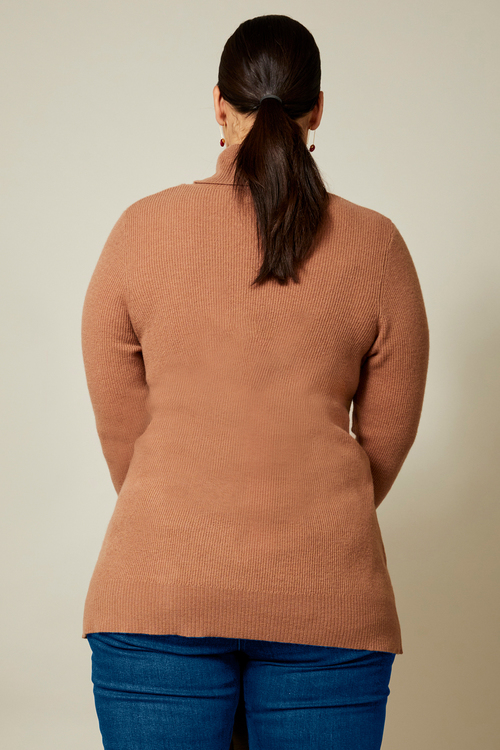 Sara Lambswool Side Button Sweater