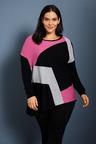 Sara Asymmetric Spliced Sweater