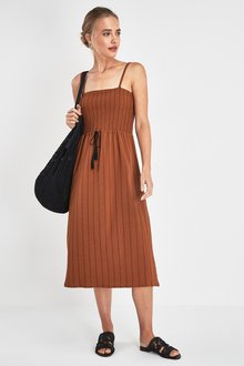 Next Shirred Tie Waist Dress
