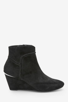 Next Forever Comfort Wedge Ankle Boots-Wide