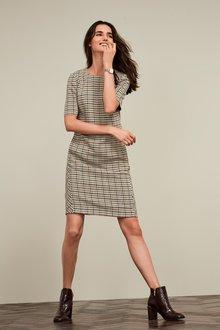Next Short Sleeve Shift Dress-Tall