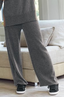 Next Knitted Wide Leg Pants With Cashmere