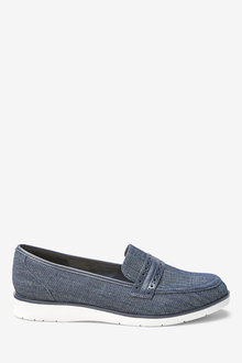 Next Forever Comfort Brogue Detail Chunky Sole Loafers-Wide
