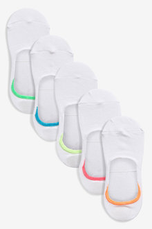 Next Neon Tip Invisible Trainer Socks