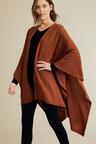Capture Lambswool Waffle Panel Cape