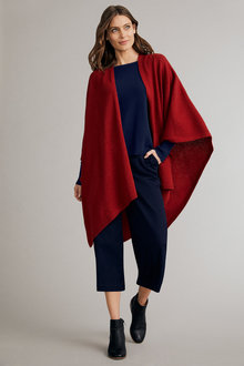 Capture Lambswool Waffle Panel Cape - 241106