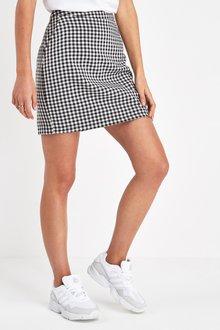 Next Gingham Mini Skirt