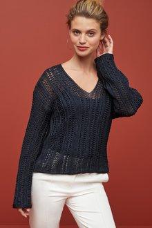 Next Metallic Crochet Look Jumper