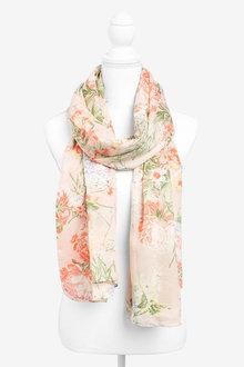 Next Oriental Floral Lightweight Scarf