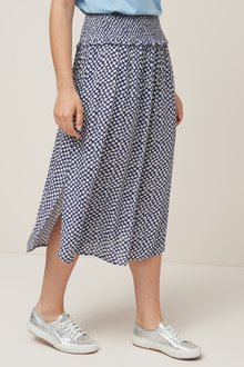 Next Smock Waist Midi Skirt-Tall