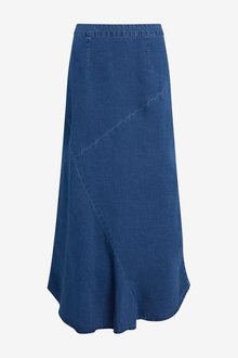 Next Tencel Midi Skirt-Tall